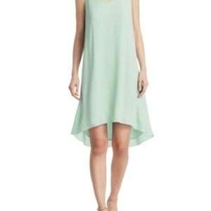 Theory Adlerdale Silk Shift Dress Color:Caribbean